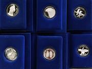 Sale 8465J - Lot 304 - SIX THE BIRDS OF AUSTRALIA $10 SILVER PROOF COINS; in 92.5% silver, 1989- 1994 with boxes and numbered certs, Kookaburra (47499),...