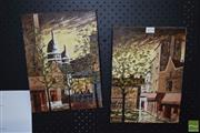 Sale 8506 - Lot 2076 - Artist Unknown (French) (2 works), Parisian Scenes, oil paintings, each signed