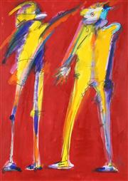 Sale 8538A - Lot 5070 - Catherine Charlotte - Two Figures, 1989 68.5 x 48.5cm
