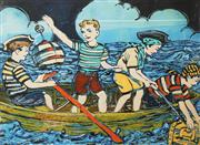 Sale 8755A - Lot 5022 - David Bromley (1960 - ) - 4 Young Pirates 55 x 74.5cm