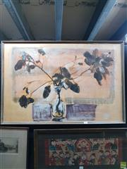 Sale 8645 - Lot 2025 - Daphne Miller - Branch mixed media on board 60 x 90cm signed and dated lower centre