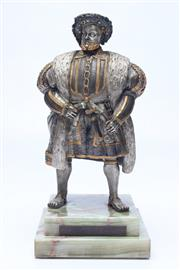 Sale 8694 - Lot 83 - Bronze figure of Henry VIII