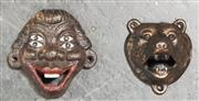 Sale 8988 - Lot 1015 - Cast Iron Bear and Four Eyes (Eyes - H: 10 x W: 10cm)