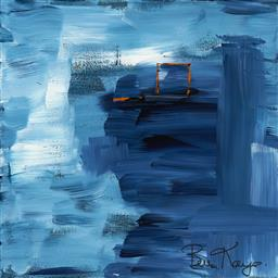 Sale 9174JM - Lot 5092 - BELLA KAYE Blue Haven acrylic on canvas 45 x 45 cm signed lower right