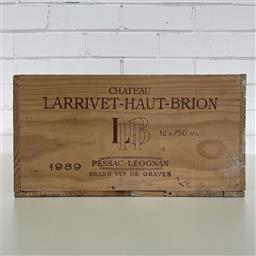 Sale 9257W - Lot 979 - French Timber Wine Box for 1989 Chateau Larrivet-Haut-Brion