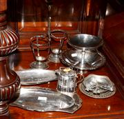Sale 8127A - Lot 94 - A Selection of C19th and C20th Silver Plated Wares,