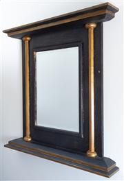 Sale 8800 - Lot 30 - An ebonised and gilt rectangular mirror of classical form, H 82 x W 83cm