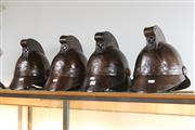 Sale 8369 - Lot 59 - Reproduction Fire Fighter Helmets (4)