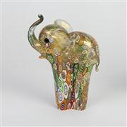 Sale 8396A - Lot 19 - Millefiori Art Glass Elephant