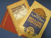 Sale 8419A - Lot 58 - Boxing Books - a box containing good examples including Gene Tunney, Bang Boxing Record 1938, etc
