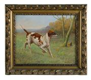 Sale 8586A - Lot 26 - Charles Virion, French, 1865 - 1946 - Pointer 34 x 42 cm