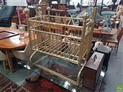 Sale 8593 - Lot 1098 - Metal Gold Painted Crib