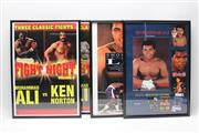 Sale 8733 - Lot 23 - Four Small Ali Posters, Framed, Each With A Different Ali DVD In Slip To Reverse