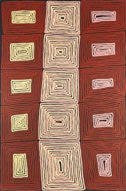 Sale 8862A - Lot 526 - Ronnie Tjampitjinpa (c1943 - ) - Tingari Cycle 180 x 120cm (stretched and ready to hang)