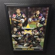 Sale 8805A - Lot 861 - North Queensland Cowboys Star Series, framed