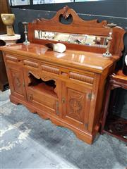 Sale 8826 - Lot 1009 - Victorian Mahogany Mirrored Back Sideboard with Two Drawers & Three Doors (H: 140 W: 148 D: 55cm)