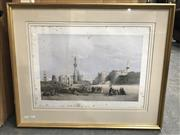 Sale 9033 - Lot 2080 - After David Roberts Entrance to the Citadel of Cairo colour lithograph (AF- foxing) 61 x 74.5cm (frame)