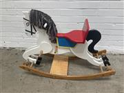 Sale 9063 - Lot 1044 - Hand Painted Timber Rocking Horse (h:70 x w:100cm)