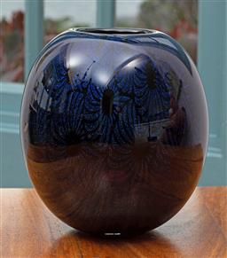 Sale 9191H - Lot 92 - Dichroic Vase by Sean O'Donoghue, Noosa Master Glassblower, trained at Waterford Crystal, H 14 cm
