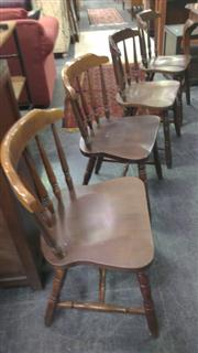 Sale 7944A - Lot 1070 - Set Of Four Spindle Back Kitchen Chairs