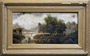 Sale 8259 - Lot 595 - J Müller (19Cth European School) - Scenery in Bavaria 29.5 x 61cm