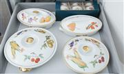 Sale 8470H - Lot 199 - Four Worcester Evesham pattern tureens with six boxed ramekins