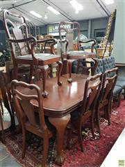 Sale 8566 - Lot 1323 - Georgian Style Mahogany Dining Suite