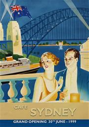 Sale 8696A - Lot 5059 - A. Lavroff - CAFE SYDNEY: Grand Opening 30th June, 1999 90 x 60cm