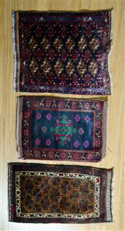 Sale 8693C - Lot 75 - 3 x Persian Door Mats 80cm x 60cm