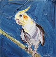 Sale 8708A - Lot 507 - Jodie Wells - Listening Cockatiel, 2012 30 x 30cm