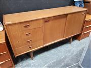 Sale 8822 - Lot 1052 - Teak Sideboard with Two Sliding Doors & Four Drawers