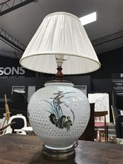 Sale 8839 - Lot 1309 - Oriental Table Lamp with Pleated Shade
