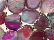 Sale 8988 - Lot 1030 - Box of Pink Polished Agate Slices