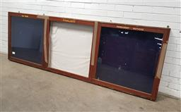 Sale 9129 - Lot 1024 - Vintage timber honours board display cabinet (h92 x w275 x d10cm)
