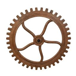 Sale 9140F - Lot 154 - Hardy Interiors original design. A hand carved solid fruitwood cog in a aged smokehouse finish. Dimensions: W130 x D130 x H7 cm