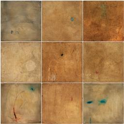 Sale 9256A - Lot 5016 - CONCHITA CARAMBANO (1961 - ) (Suite of 9 works) Untitled mixed media on canvas 30 x 30 cm, each signed verso, each