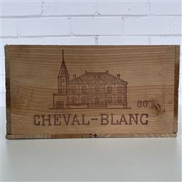 Sale 9257W - Lot 980 - French Timber Wine Box for 1980 Cheval Blanc