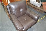 Sale 8013 - Lot 1147 - Leather Swivel Chair