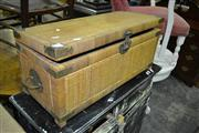 Sale 8093 - Lot 1500 - Cane Trunk w Metal Mounts