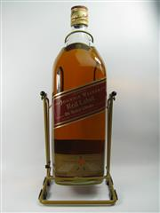 Sale 8290 - Lot 499 - 1x Johnnie Walker Red Label Blended Scotch Whisky - 4500ml bottle on cradle