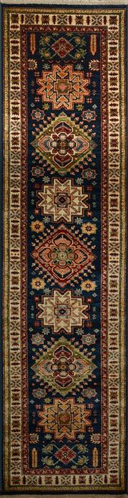Sale 8402C - Lot 13 - Afghan Super Kazak Runner 310cm x 80cm