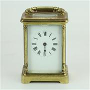 Sale 8413 - Lot 79 - French Brass Carriage Clock