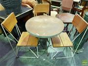 Sale 8532 - Lot 1112 - Four Piece Patio Suite incl. Three Chairs & Table