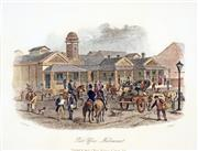 Sale 8573 - Lot 2090 - Samuel Thomas Gill (1818 - 1880) - Post Office, Melbourne 16.5 x 21cm (mount size: 31.5 x 35cm)
