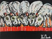 Sale 9062A - Lot 5046 - Yosi Messiah (1964 - ) - Desert Thirst 75 x 100 cm