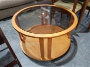 Sale 8984 - Lot 1085 - Chiswell Round Glass Top Coffee Table