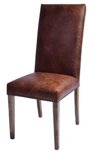 Sale 9010F - Lot 25 - A SET OF EIGHT TOP GRAIN WAXED LEATHER DINING CHAIRS H:110 W:76 D:50cm