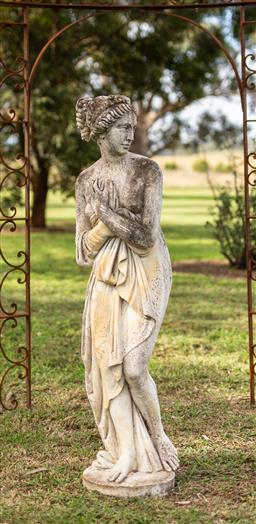Sale 9191W - Lot 440 - A fine composite stone statue of Diana with superb aged Patina H.1620mm