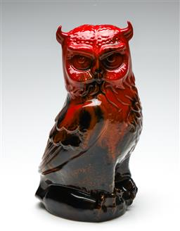 Sale 9255S - Lot 83 - A Large Royal Doulton Flambe Owl Height 30cm