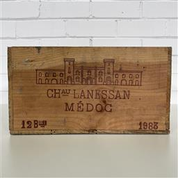 Sale 9257W - Lot 981 - French Timber Wine Box for 1983 Chateau Lanessan